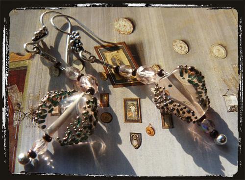 Orecchini in argento con perlaarredo