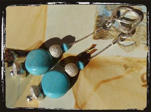 orecchini argento eturchese