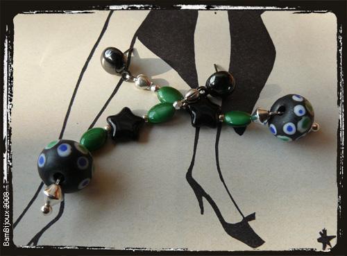 orecchini neroverde
