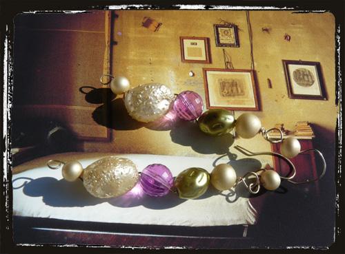 orecchini con perle vintage1950