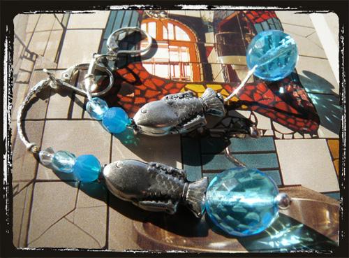 orecchini in argento con pesciolino eturchese