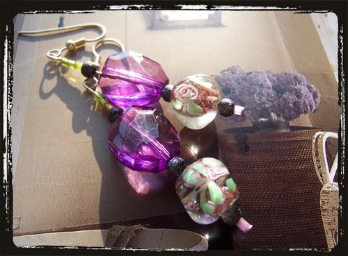 orecchini viola efiorata