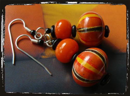 orecchini arancionegiallo