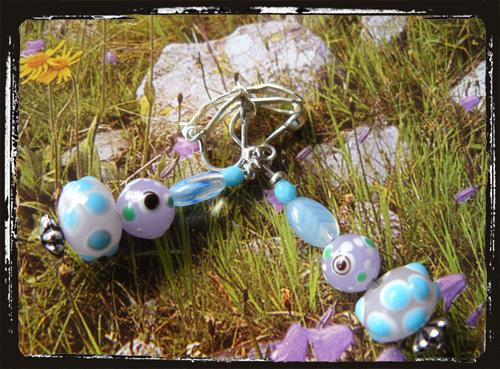 orecchini vetro murano azzurroglicine