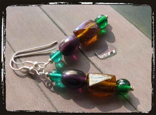 orecchini verdi violatopazio
