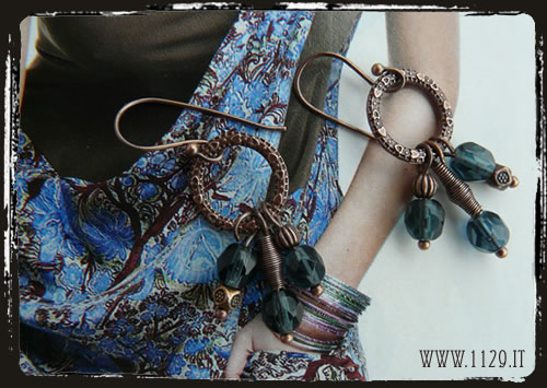 orecchini blu montana