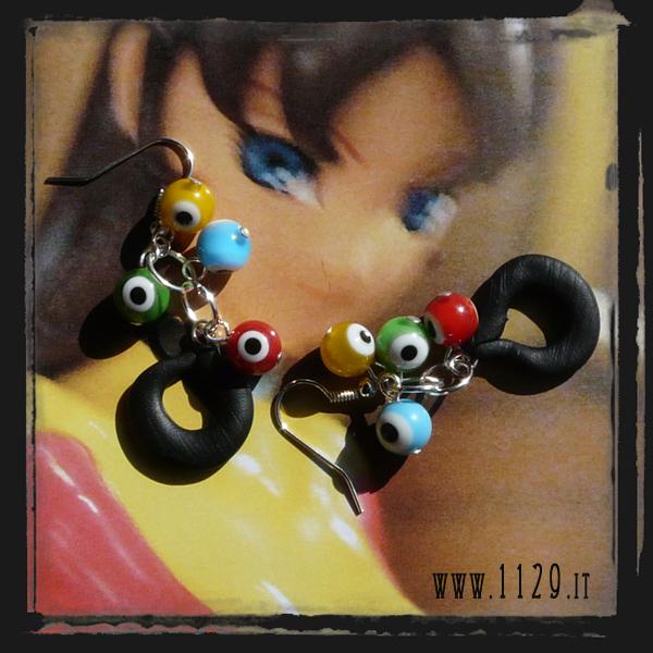 MCDEYE orecchini evile eye silver earrings 1129