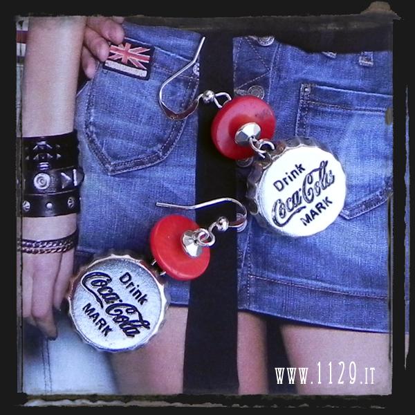 orecchini coca-cola - coke earrings