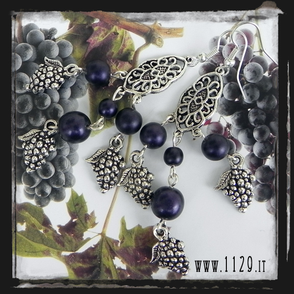 LIUVAV orecchini grapplo uva grape  earrings 1129