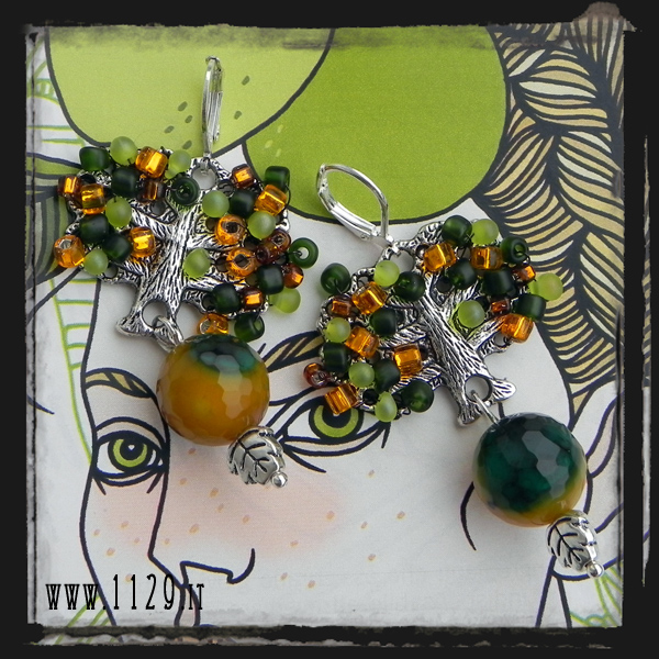 LLAUTU-orecchini foglie autunno autumn leaves -earrings