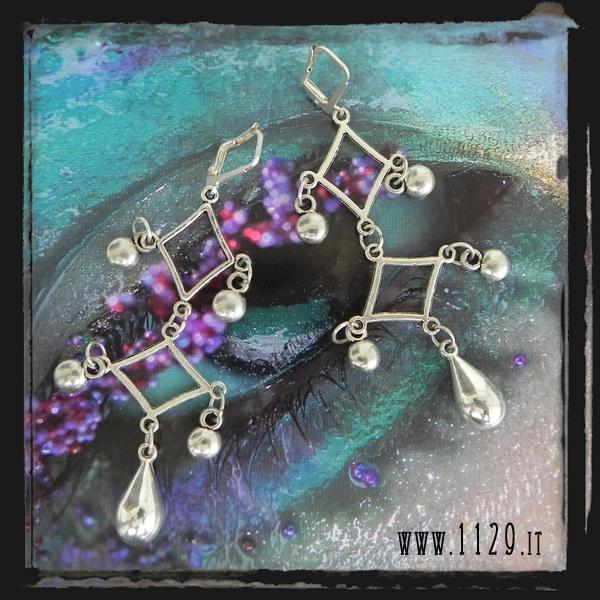 LLDROP orecchini gocce - silver teardrop earrings 1129