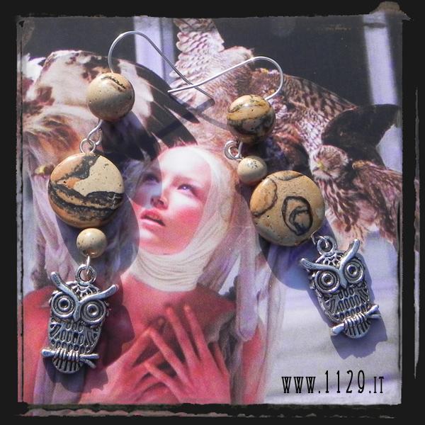 LLOWLS orecchini gufo civetta halloween earrings 1129