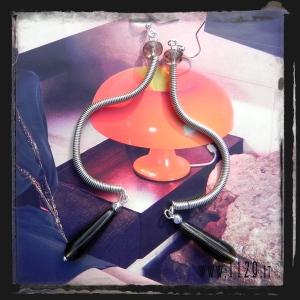 LLWIGR orecchini grey wire earrings 1129