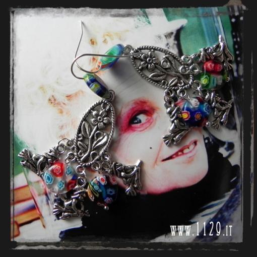 MAWITCH-orecchini-streghe-befana-witch-millefiori-earrings