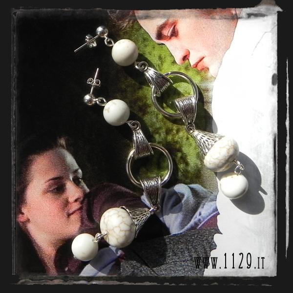MBECLI orecchini eclipse twilight turchese bianco argento silver white fashion earrings 1129