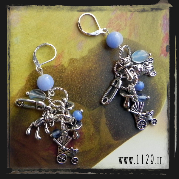 MCBARB orecchini baby elia mamma baby blue earrings 1129