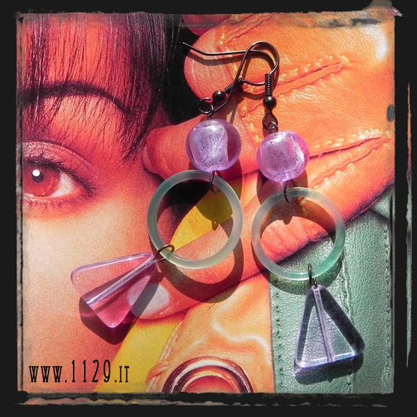 MCGLIV orecchini glicine verde agata lavander green agate ring earrings 1129
