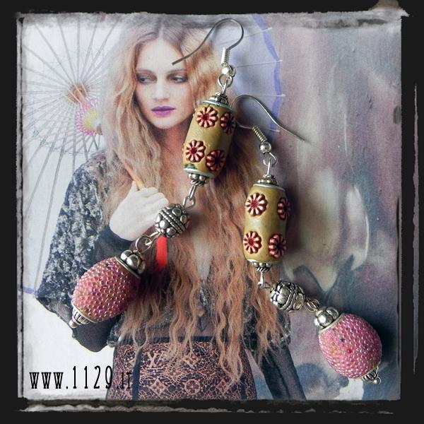 MFKARO-orecchini-perle-kashmir-rosa-antico-kashmiri-beads-pink-earrings-1129