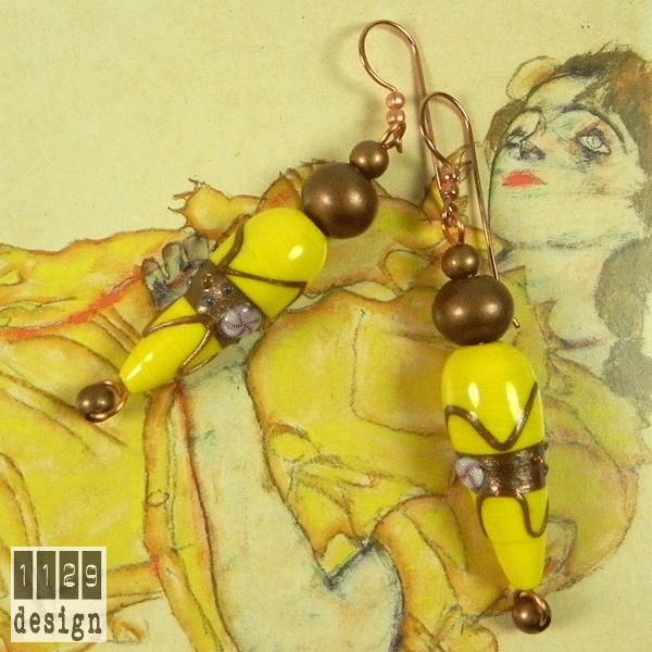 8 marzo orecchini gialli fiorato